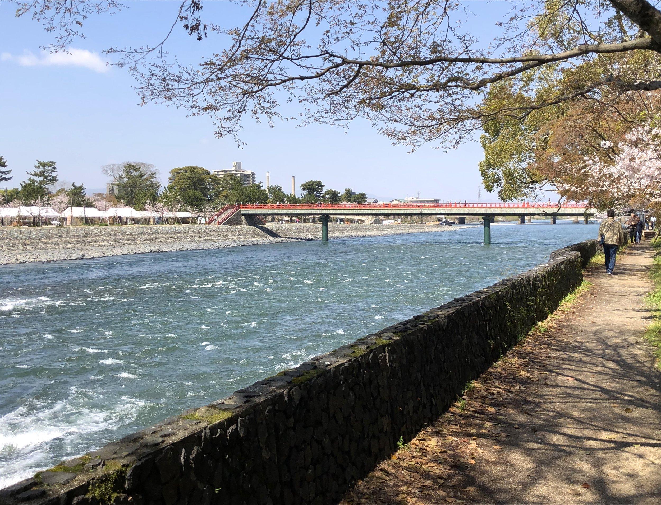 The Uji River.
