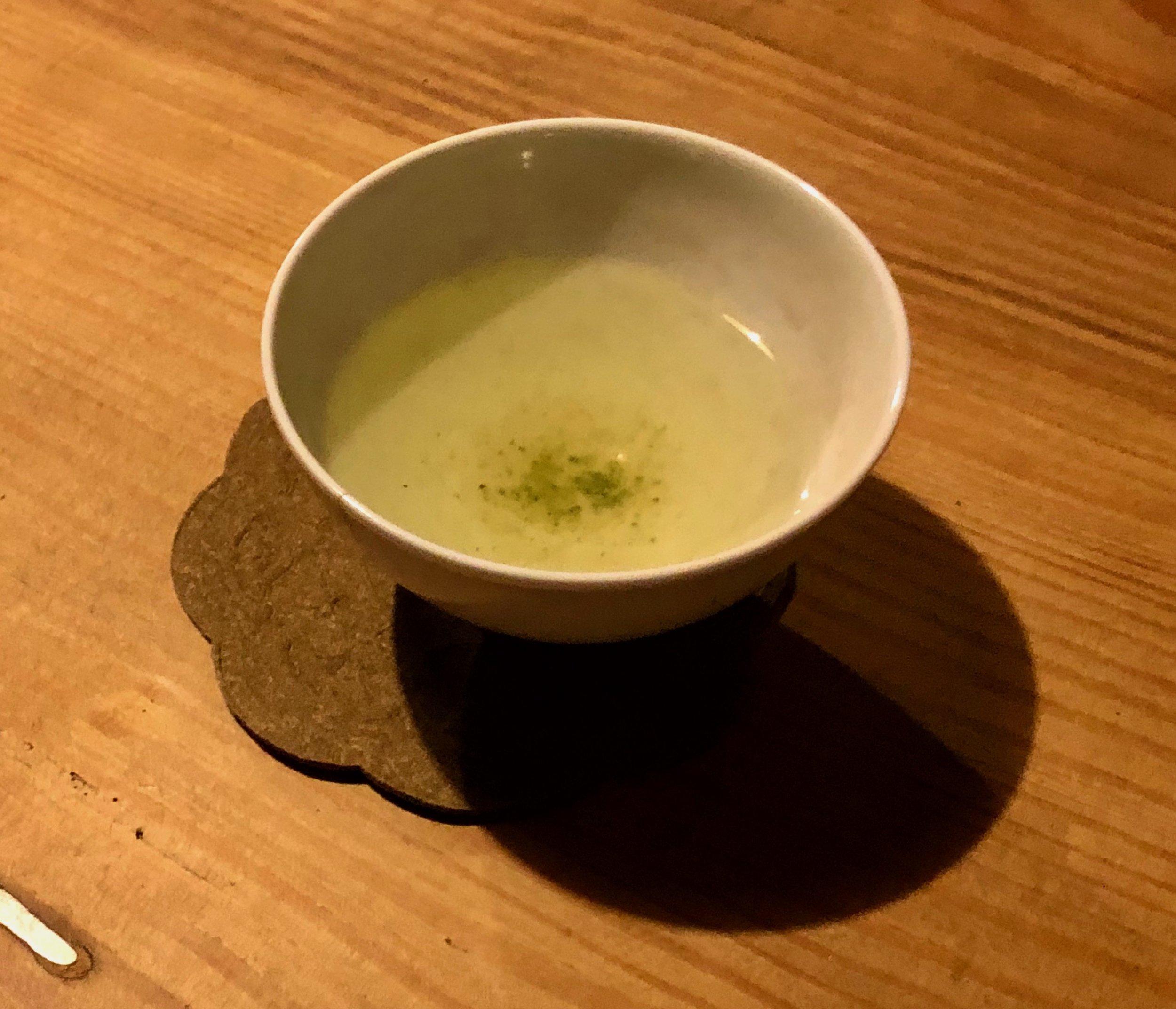 The first cup of Genki's Hiroshima  zairai sencha .