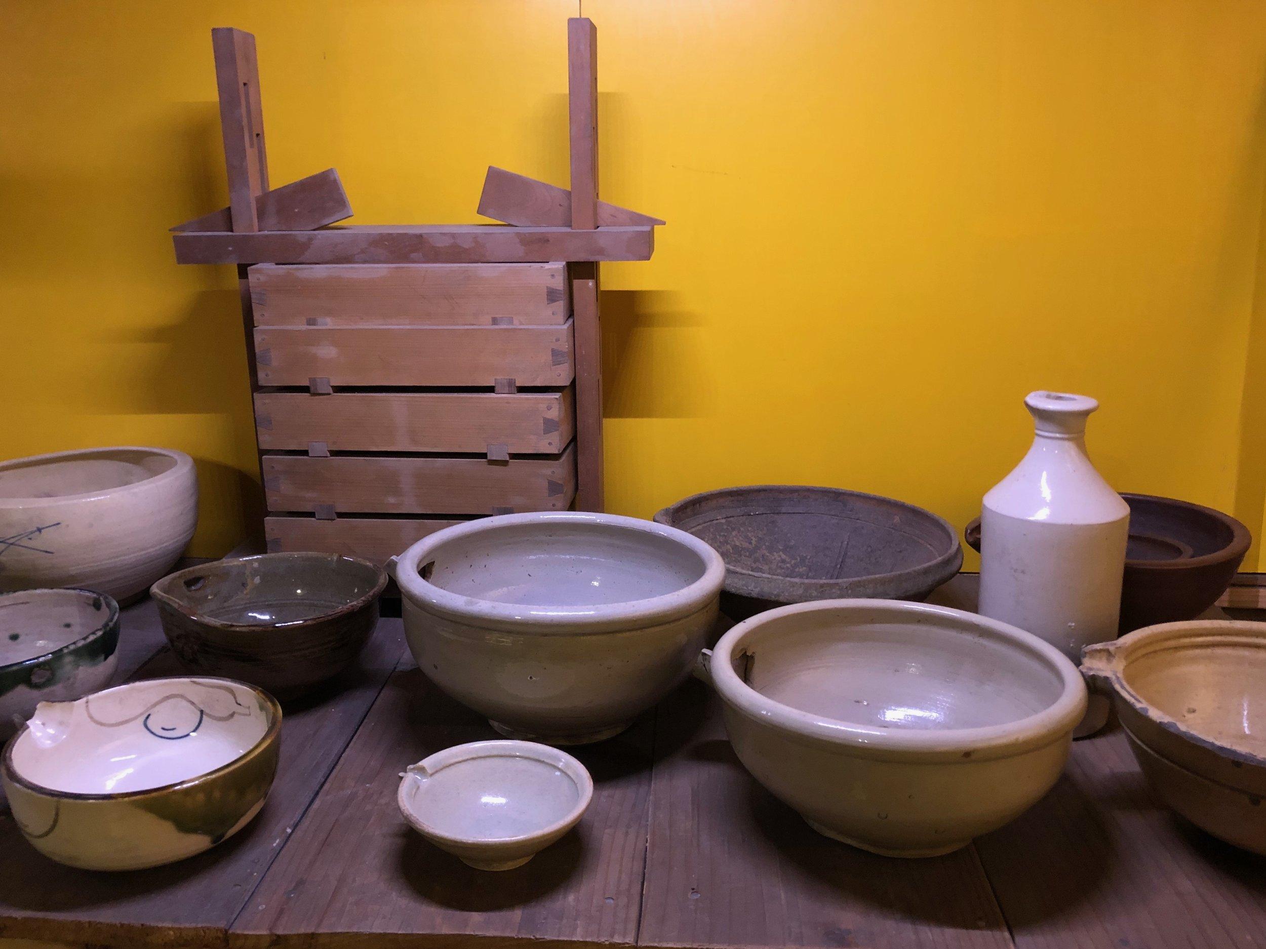 Soy Sauce Pots Used In Edo Era Kitchens