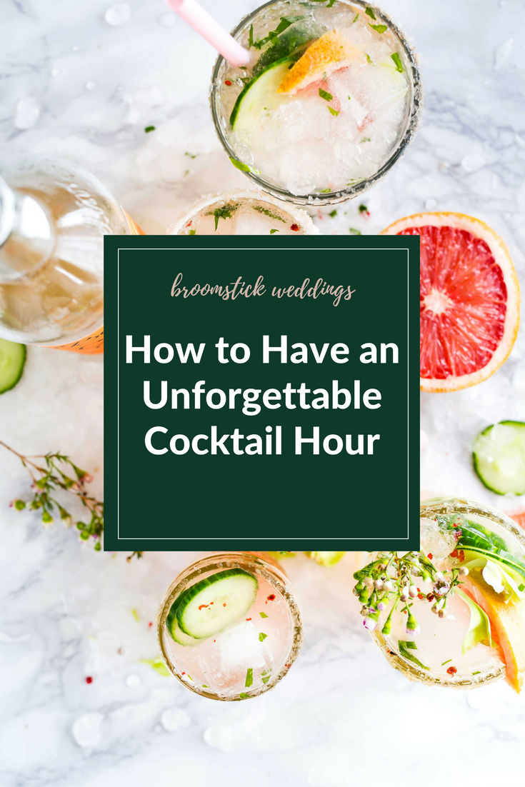 how to plan a good wedding cocktail hour