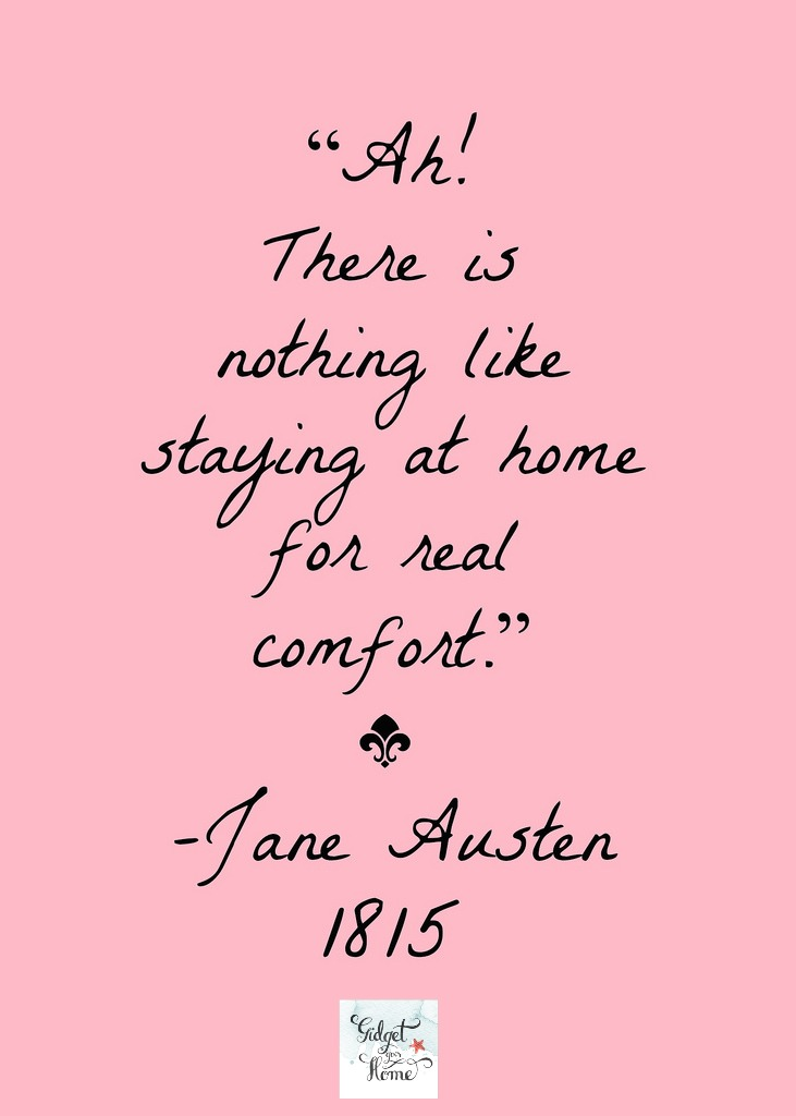 jane austen quote about home