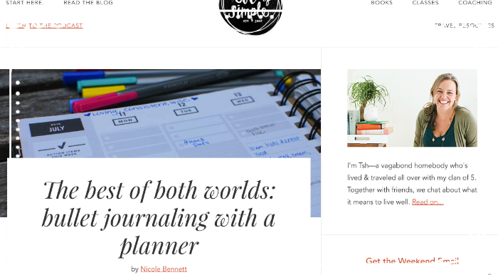 bullet journaling with a planner