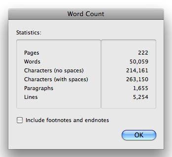 made it to 50k words!