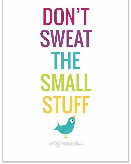 #mondaymotivation I had a reminder last night. Not to sweat the small stuff. I/We complicate the simple things. Just breathe.