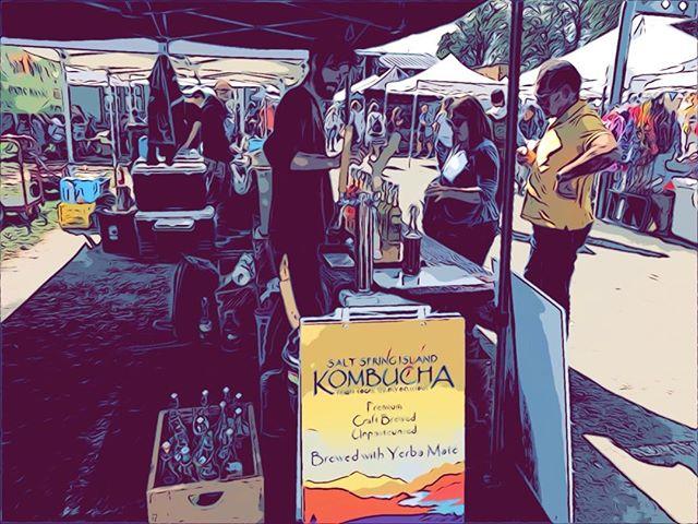 Epic market days #mossstmarket #kombucha #saltspringkombucha