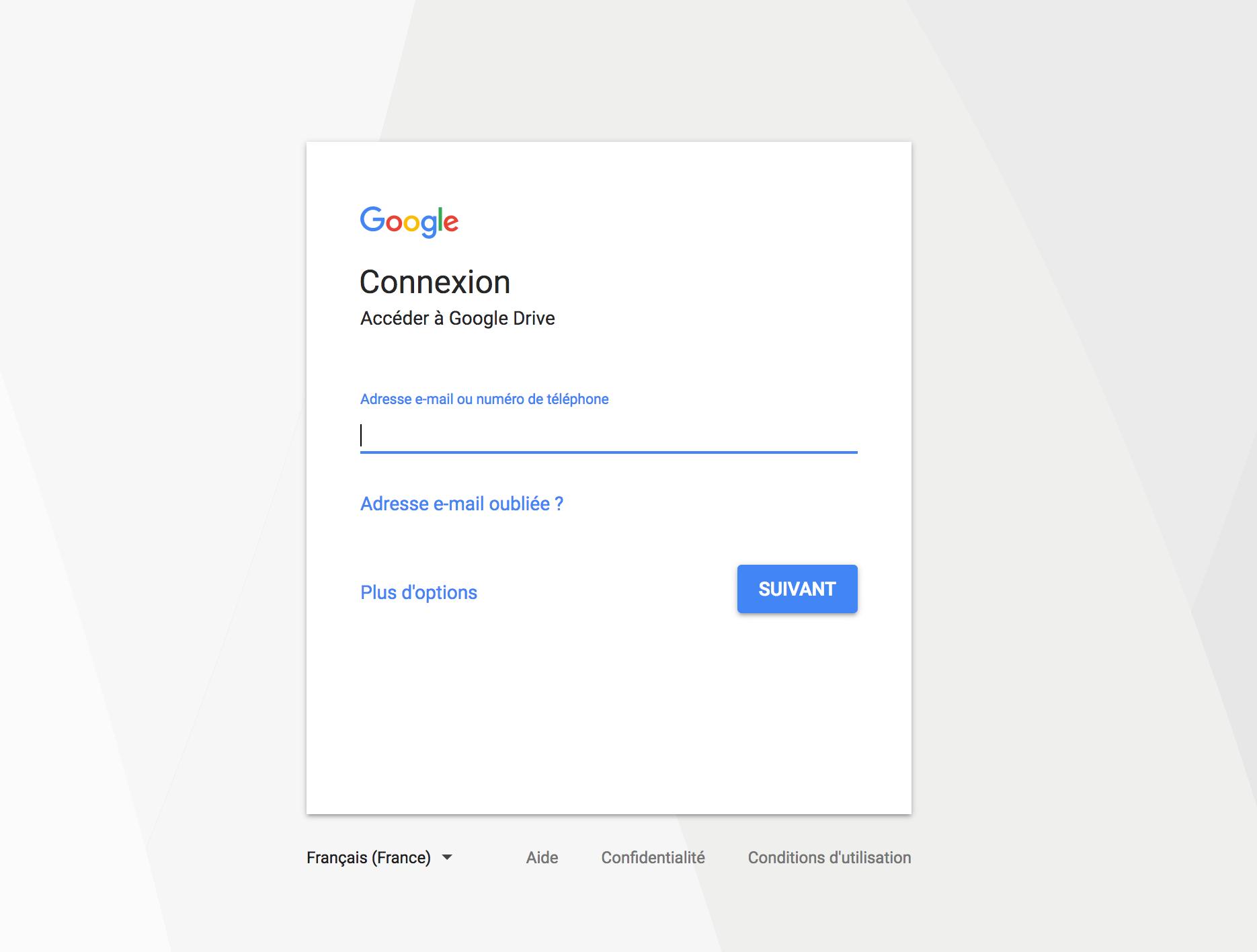 Connectez-vous avec vos identifiants Google...