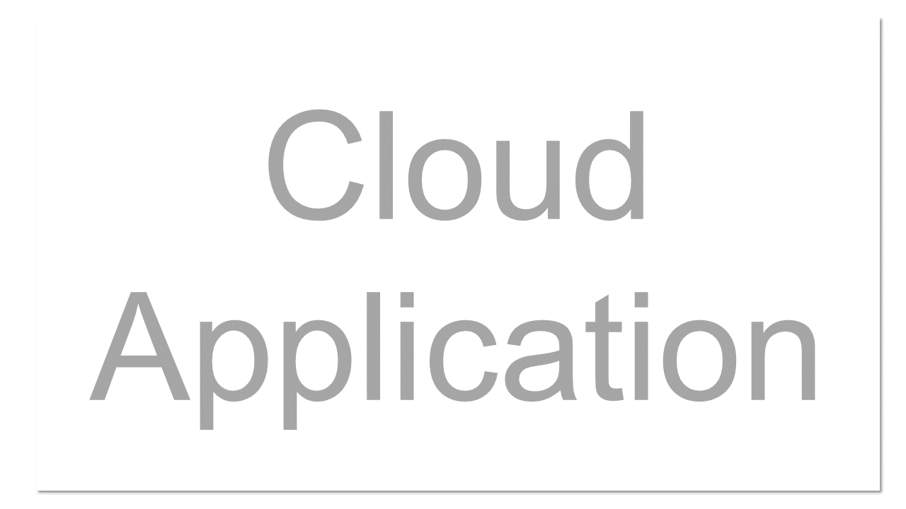 """A software application that is never installed on a local machine - it's always accessed over the Internet. The """"top"""" layer of the Cloud Pyramid where """"applications"""" are run and interacted with via a web-browser. Cloud Applications are tightly controlled, leaving little room for modification. Examples include: Gmail or SalesForce.com."""
