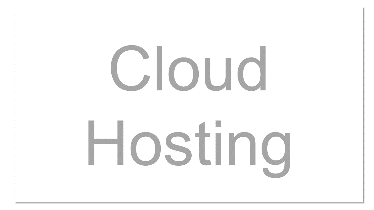 A type of internet hosting where the client leaves virtualized, dynamically scalable infrastructure on an as-needed basis. Users frequently have the choice of operating system and other infrastructure components. Typically cloud hosting is self-service, billed hourly or monthly, and controlled via web interface or API.