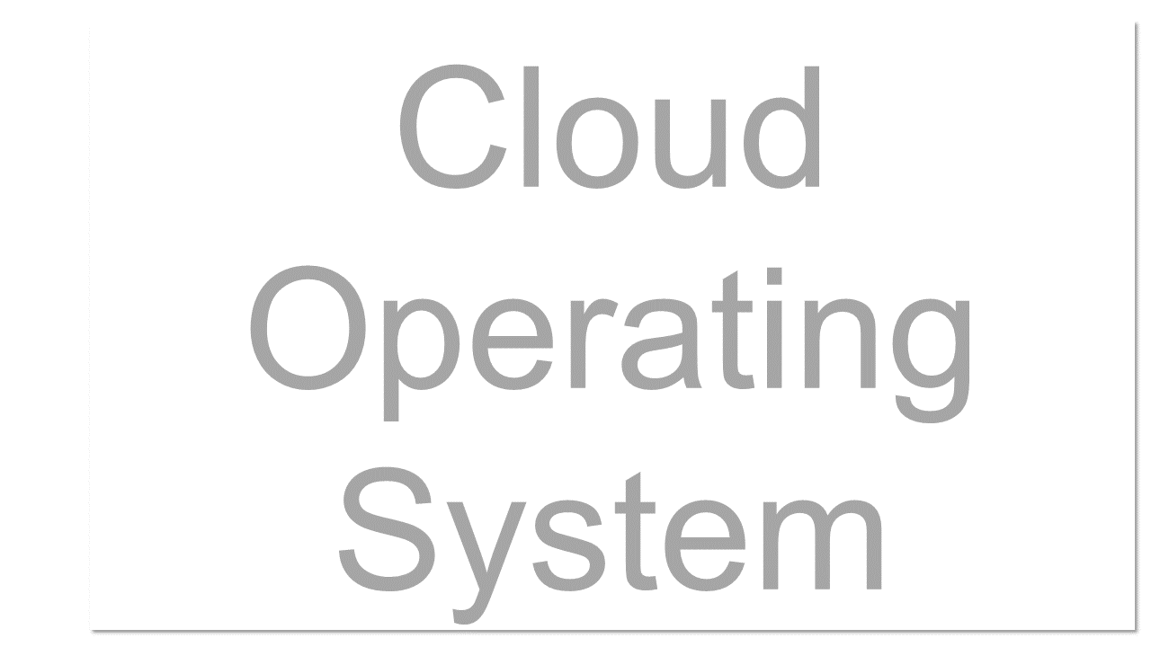 A computer operating system that is specially designed to run in a provider's data centre and be delivered to the user over the Internet or other network. The term is also sometimes used to refer to cloud-based client operating systems such as Google's Chrome OS.