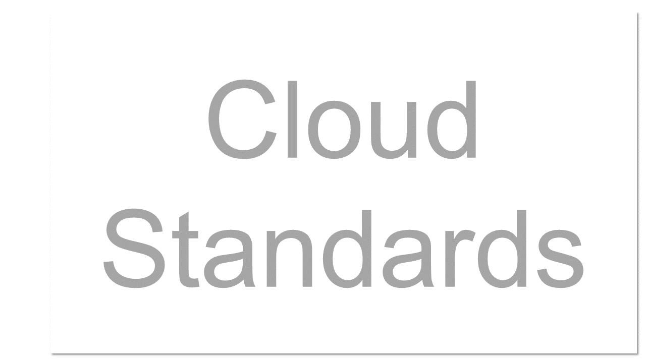 A standard is an agreed-upon approach for doing something. Cloud standards ensure interoperability, so you can take tools, applications, virtual images, and more, and use them in another cloud environment without having to do any reworking. Portability lets you take one application or instance running on one vendor's implementation and deploy it on another vendor's implementation.