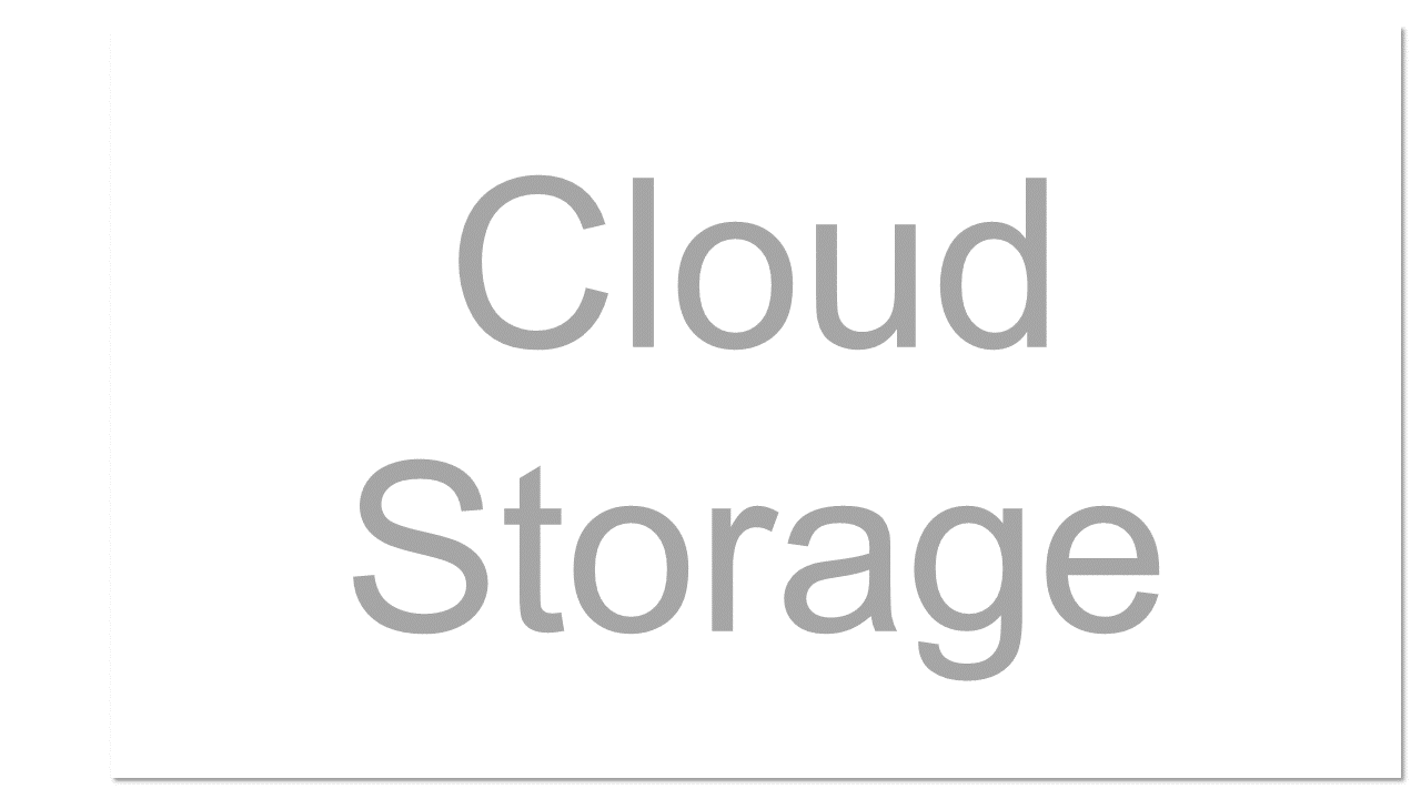 A service that allows customers to save data by transfering it over the Internet or other network to an offsite storage system maintained by a third party.