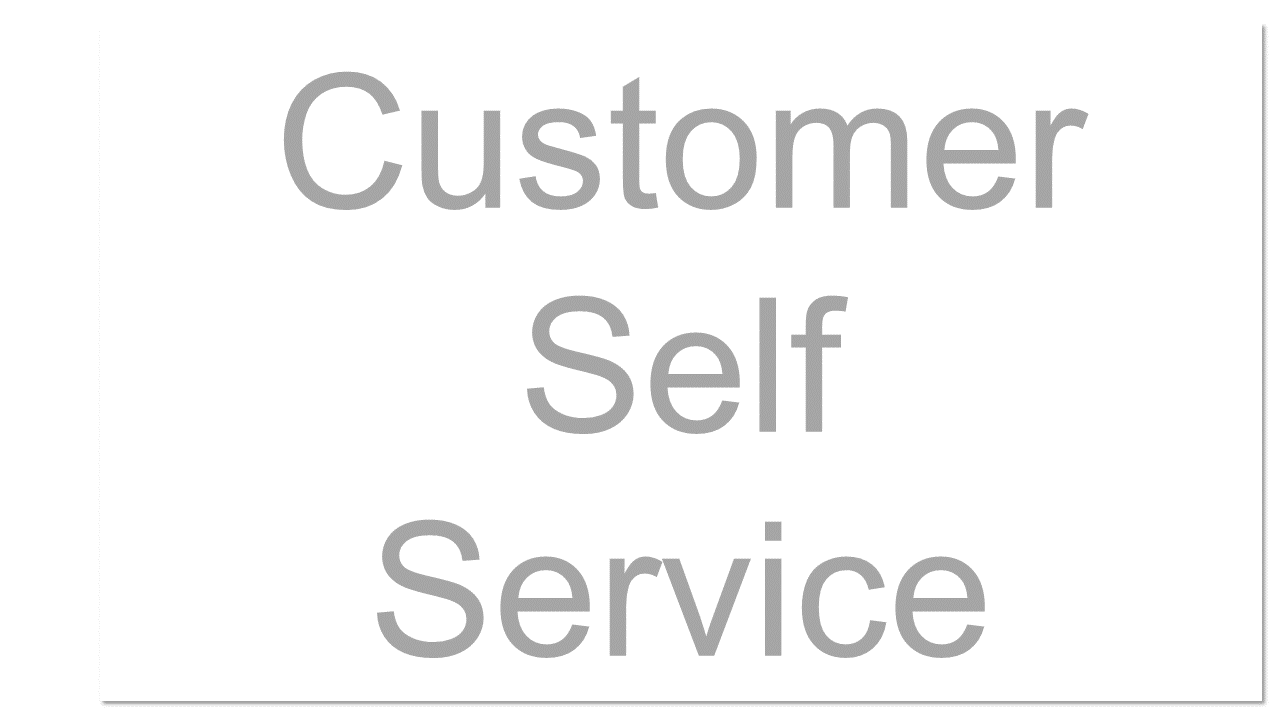 A feature that allows customers to provision, manage, and terminate services themselves, without involving the service provider, via a Web interface or programmatic calls to service APIs.