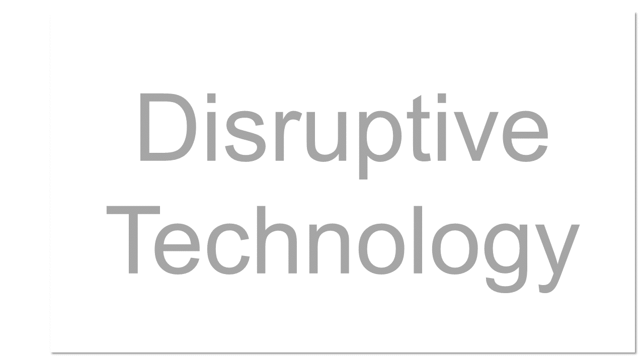 A term used in the business world to describe innovations that improve products or services in unexpected ways and change both the way things are done and the market. Cloud computing is often referred to as a disruptive technology because it has the potential to completely change the way IT services are produced, deployed, and maintained.