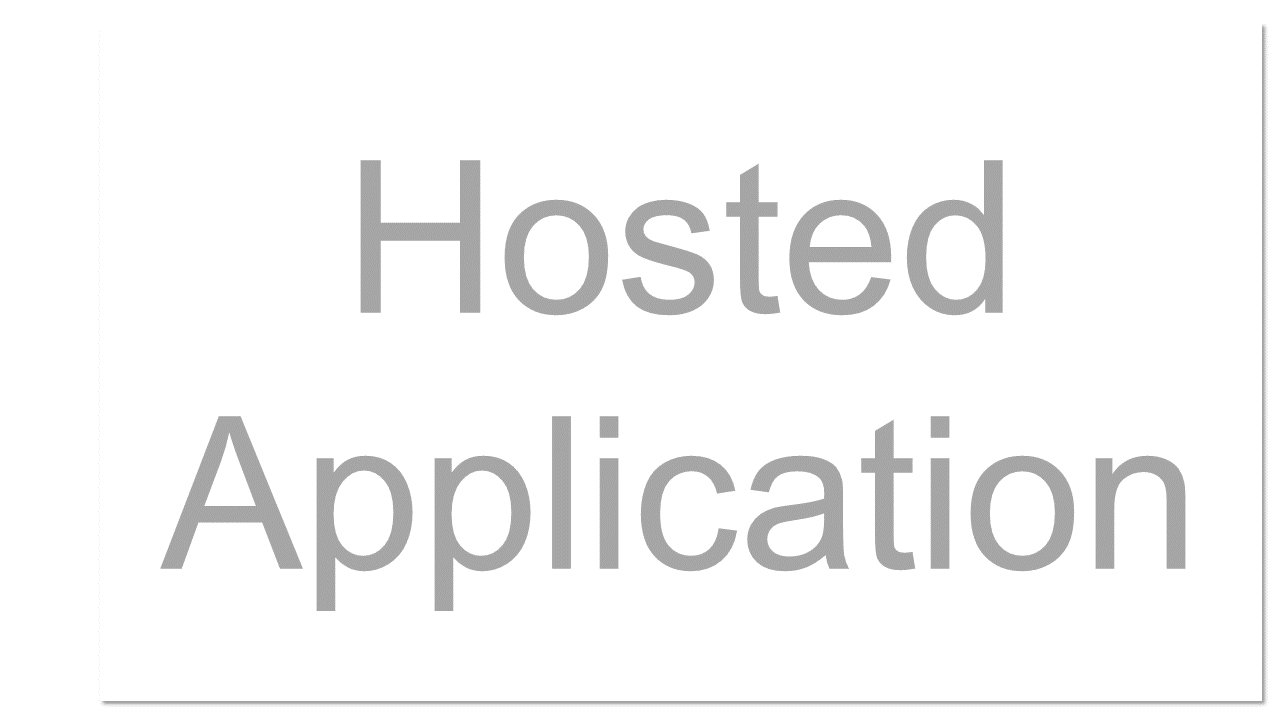 An Internet-based or Web-based application software program that runs on a remote server and can be accessed via an Internet-connected PC or thin client. See also SaaS