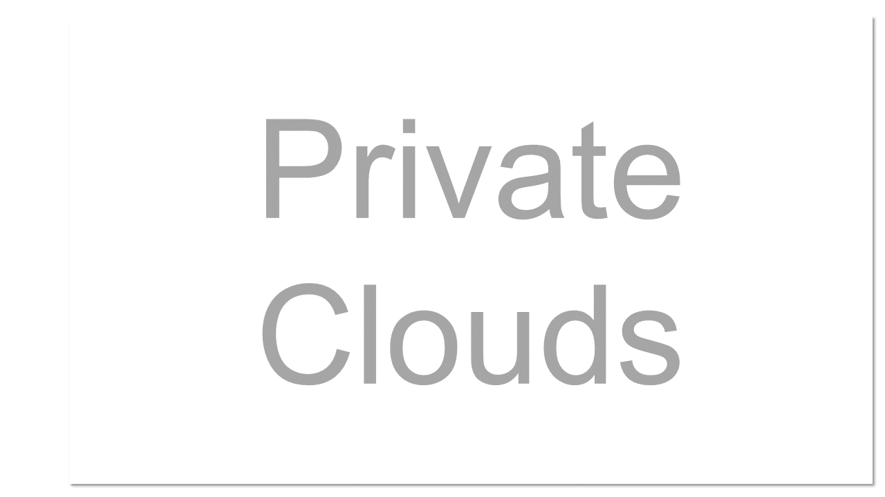 """Virtualized cloud data centres located inside your company's firewall. It may also be a private space dedicated to your company within a cloud provider's data centre. An internal cloud behind the organization's firewall. The company's IT department provides software and hardware as a service to its customers - the people who work for the company. Vendors love the words """"private cloud"""""""