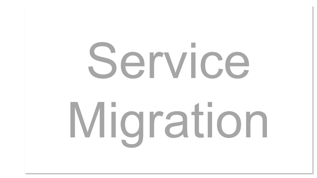 The act of moving from one cloud service or vendor to another.