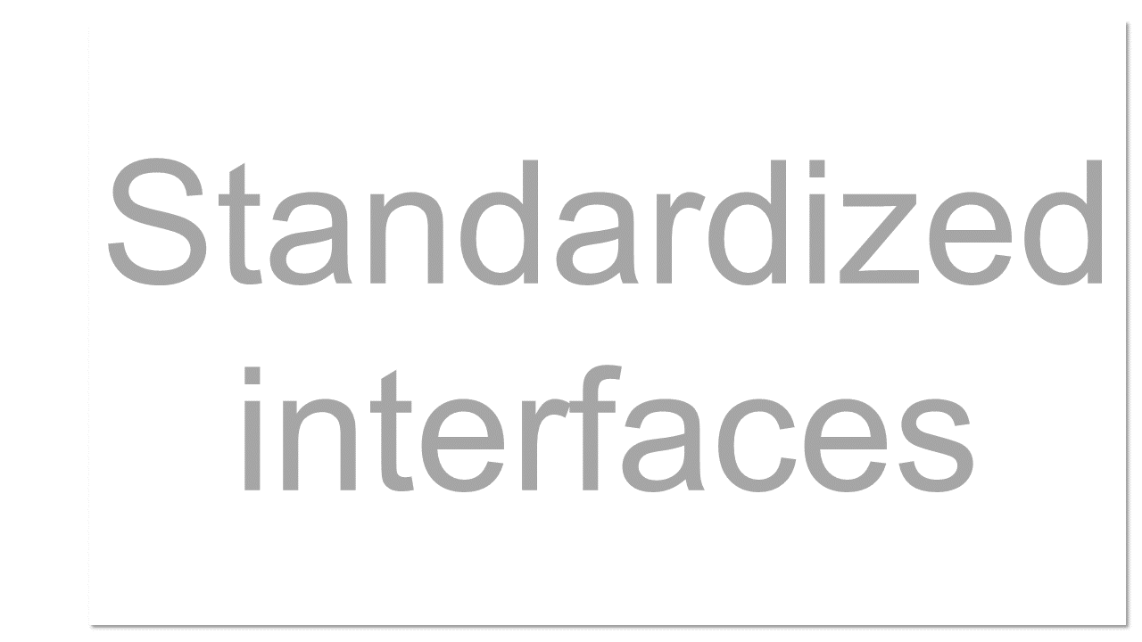 Cloud services should have standardized API's, which provide instructions on how two application or data sources can communicate with each other. A standardized interface lets the customer more easily link cloud services together.