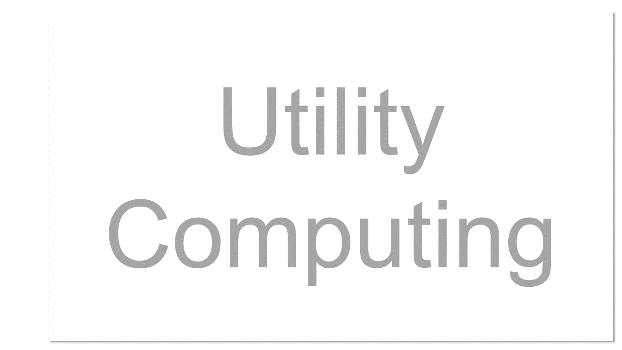 Online computing or storage sold as a metered commercial service in a way similar to a public utility.