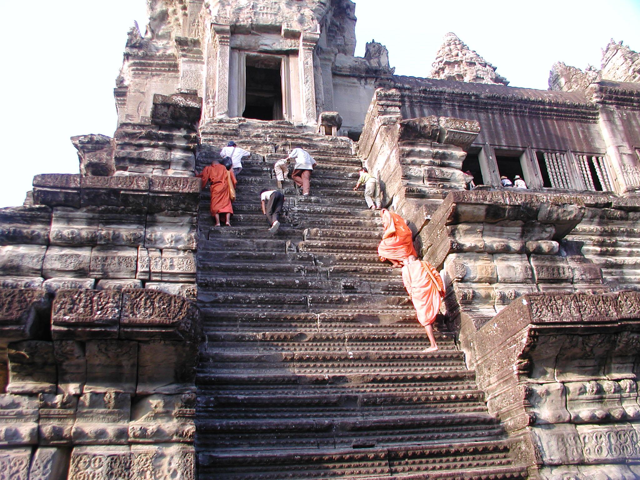 Monks climbing to the ....jpg