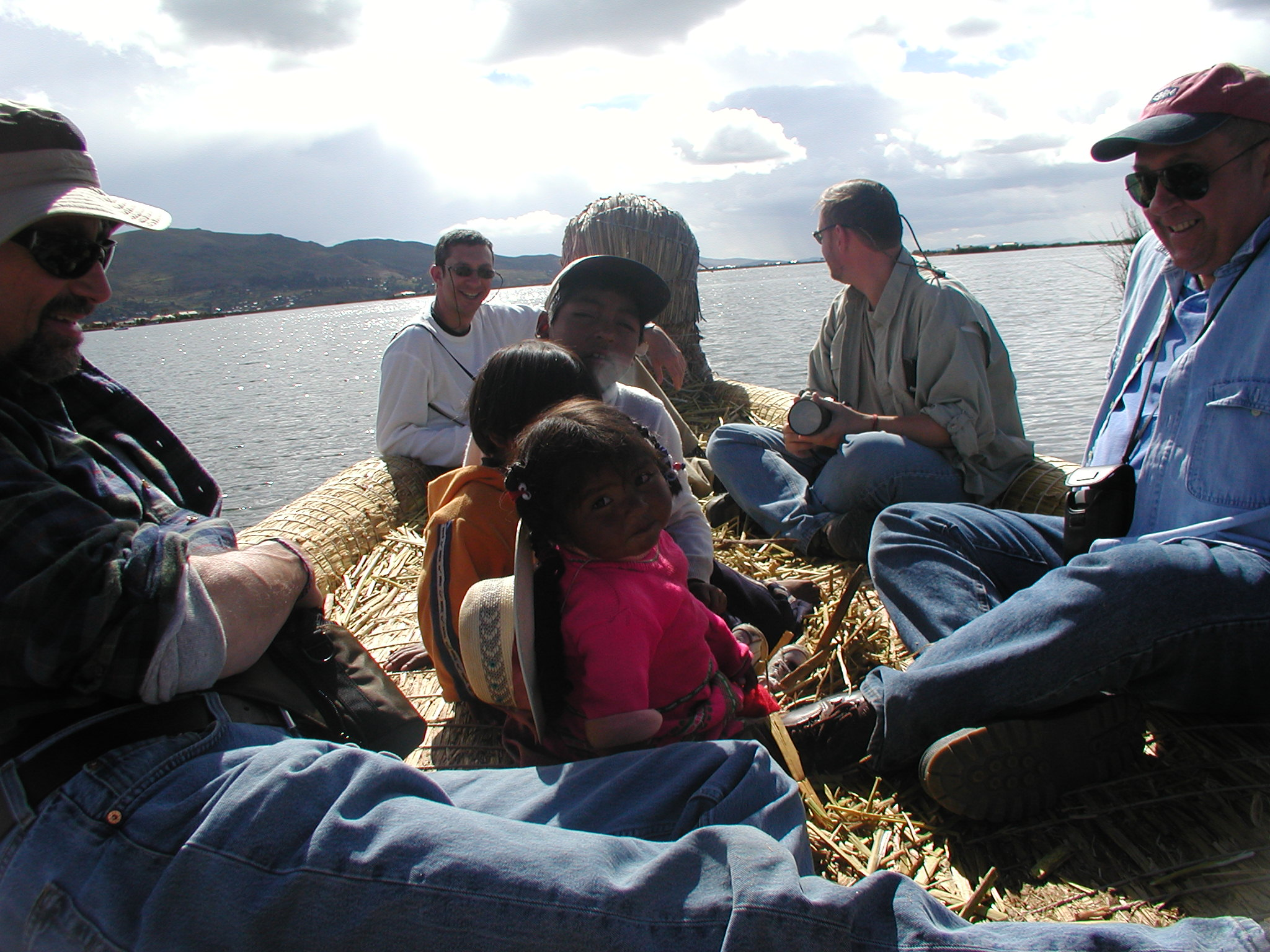 Riding on a reed boat ....jpg