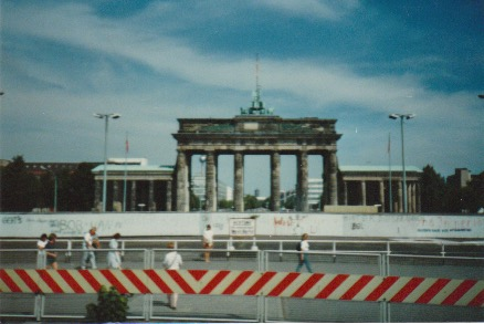 Back in the day, it was fine to take a picture from the window of a tour bus. Not anymore. (Berlin, 1985)