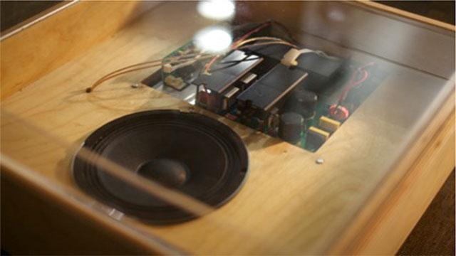 Cymatics: a tonoscope Installation