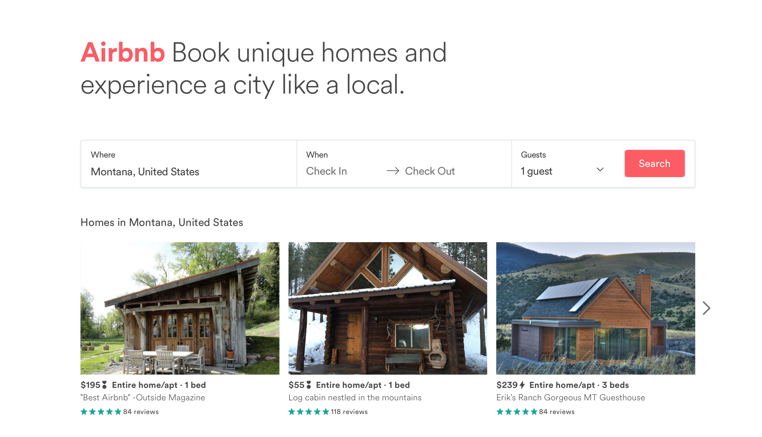 Image is a screenshot for informational purposes from  airbnb.com