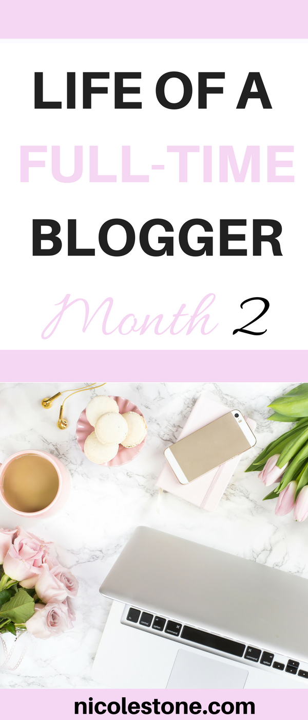 Have you ever thought about becoming a full-time blogger? What would it be like? Click through to read about a girl who is giving it a shot. This is her month two of blogging update. #blog #blogging #makemoneyonline