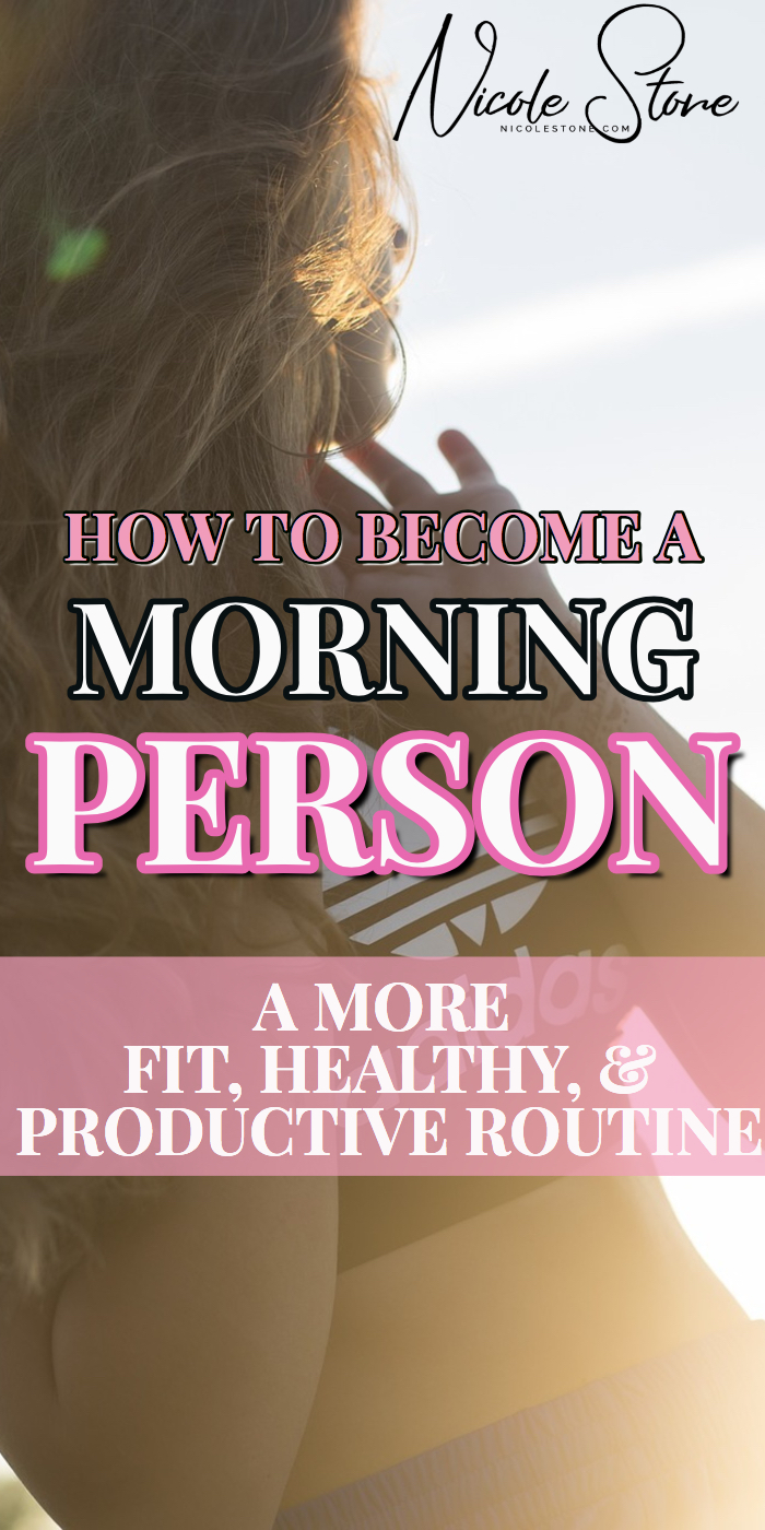 no fail tips to becoming a morning person! learn how to wake up early, workout, be productive and feel better! These tips helped me go from a night owl to a morning person. 5 tips you need to follow. #morningperson #productivitytips