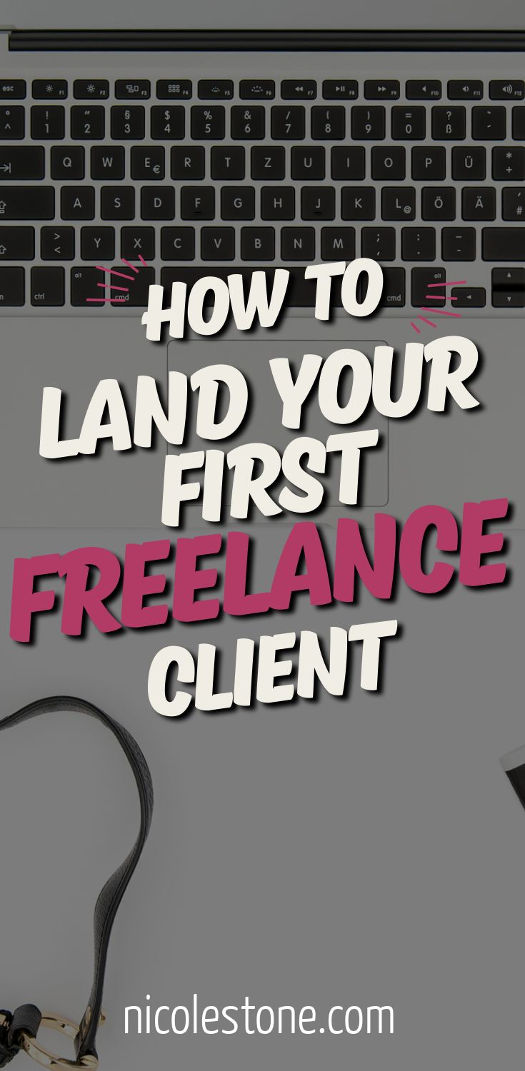 Land your first freelance client with this guide!! Easy to follow steps and exactly how I did it! #freelancewriting #makemoneyonline