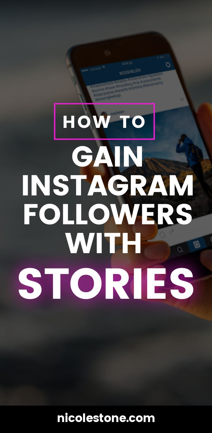 The secret way to gain Instagram followers with stories! By using this one trick on your Instagram story you can gain followers faster! #socialmedia #marketing #bloggingtips