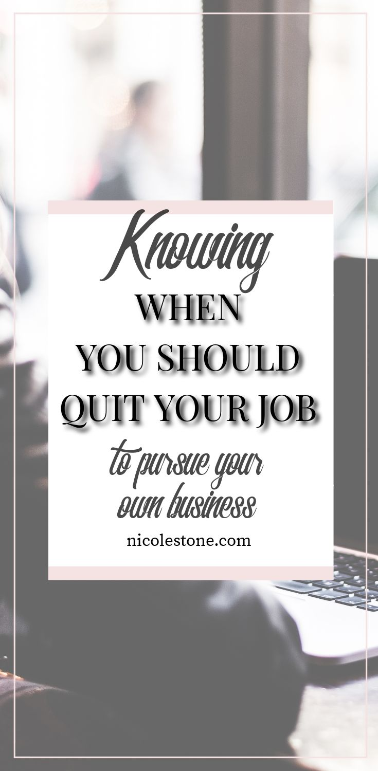 When is the right time to quit your job to pursue your dream as an entrepreneur? I go through exactly how I do it, what I recommend, and what you NEED to think about before you commit to doing so. Everything you should think about when working for yourself is right here! #workathome #entrepreneur #business #blogging