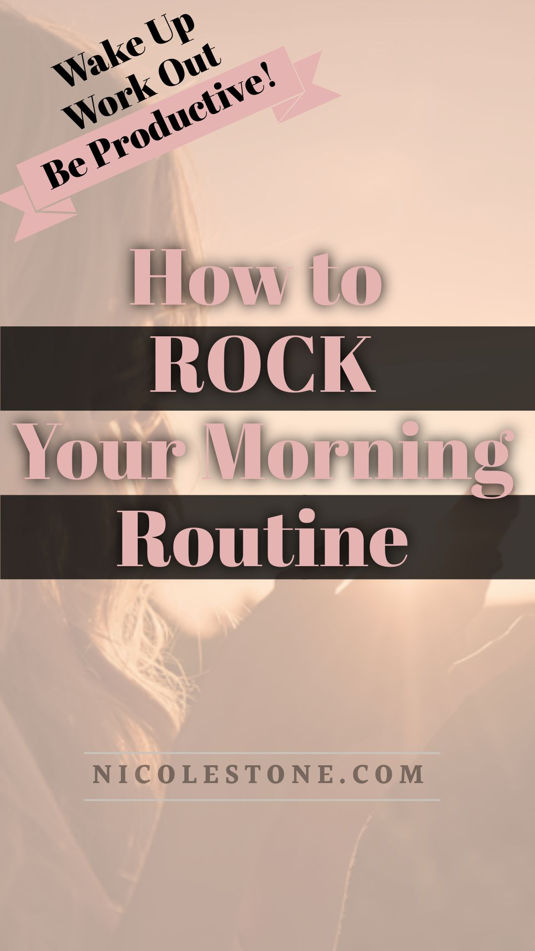 Learn how to become a morning person and rock your routine! #productivity #routine #morning