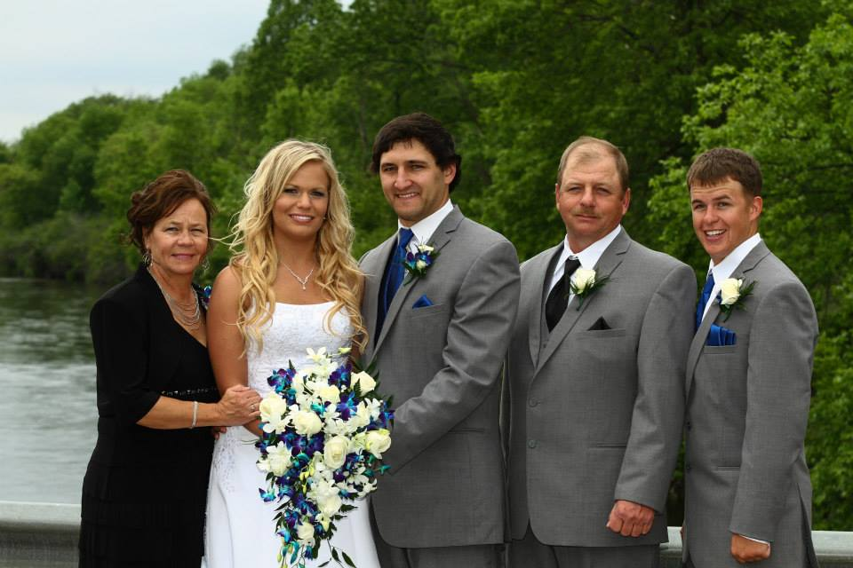 My Husband, Mom, Dad and Brother.