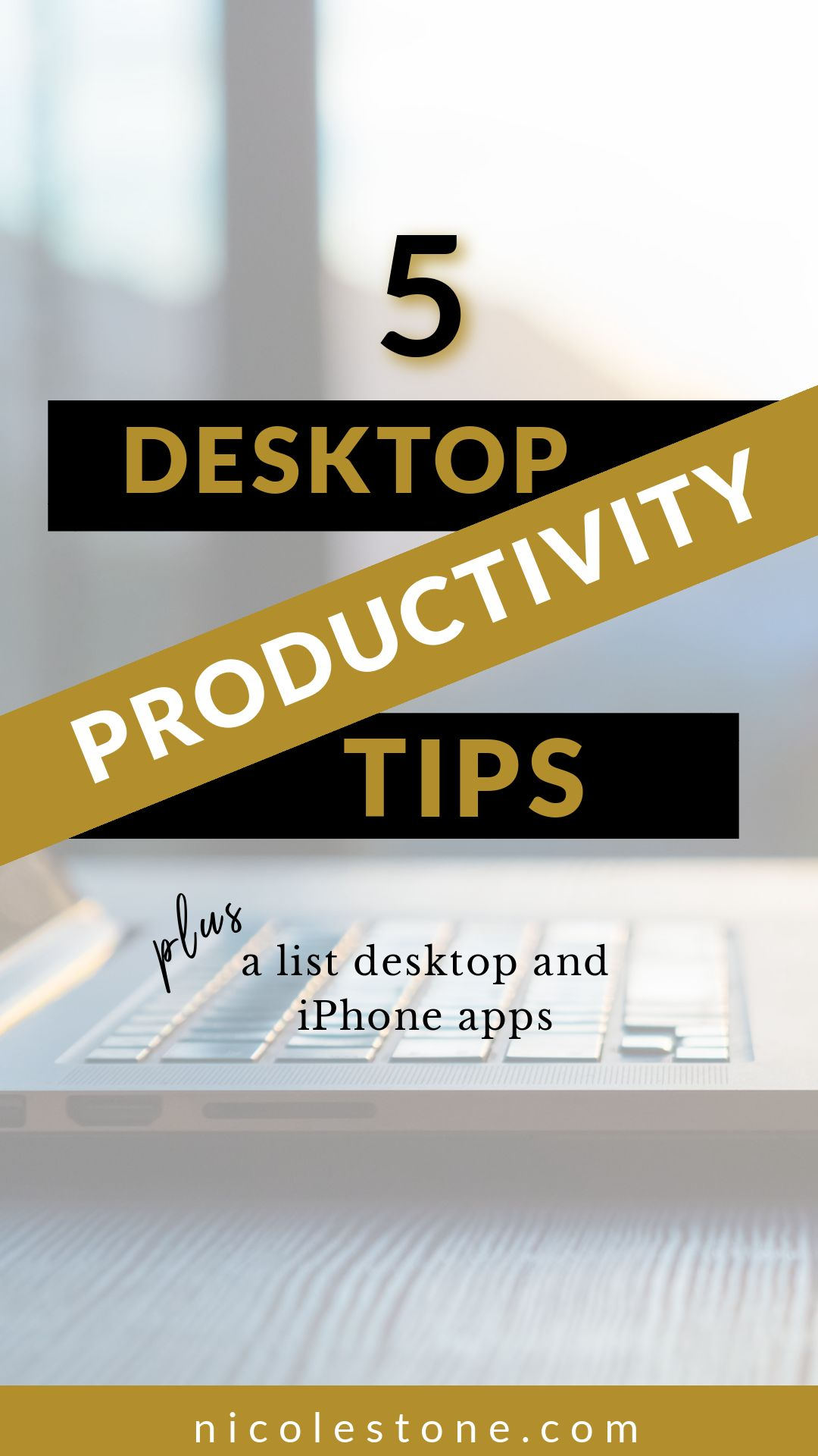 5 Ridiculously Simple Productivity Tips that Will Sky-Rocket Your Desktop Productivity. 5 Must Have Desktop and Iphone Apps INCLUDED! Learn how to be more productive (trust me, it feels great!). #productivity #productive #career #minimalism