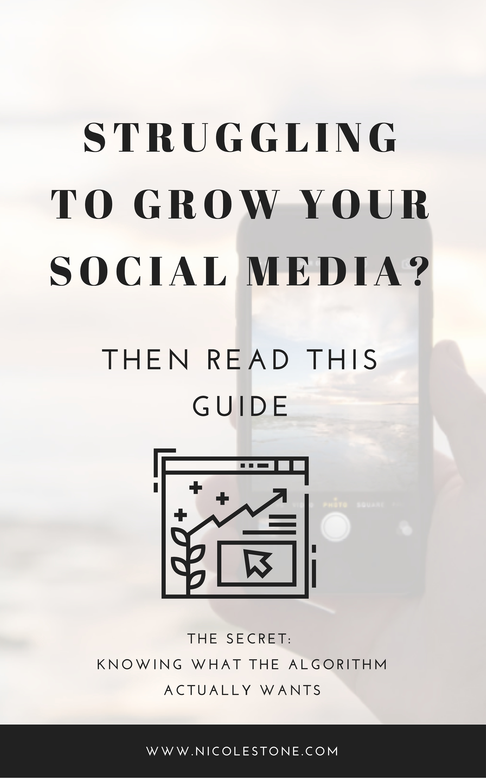 Learn what YOU NEED to focus on to build your social media profiles organically.  Gain a following and build an audience the right way. #socialmedia #marketing #instagram #facebook #blogging #twitter
