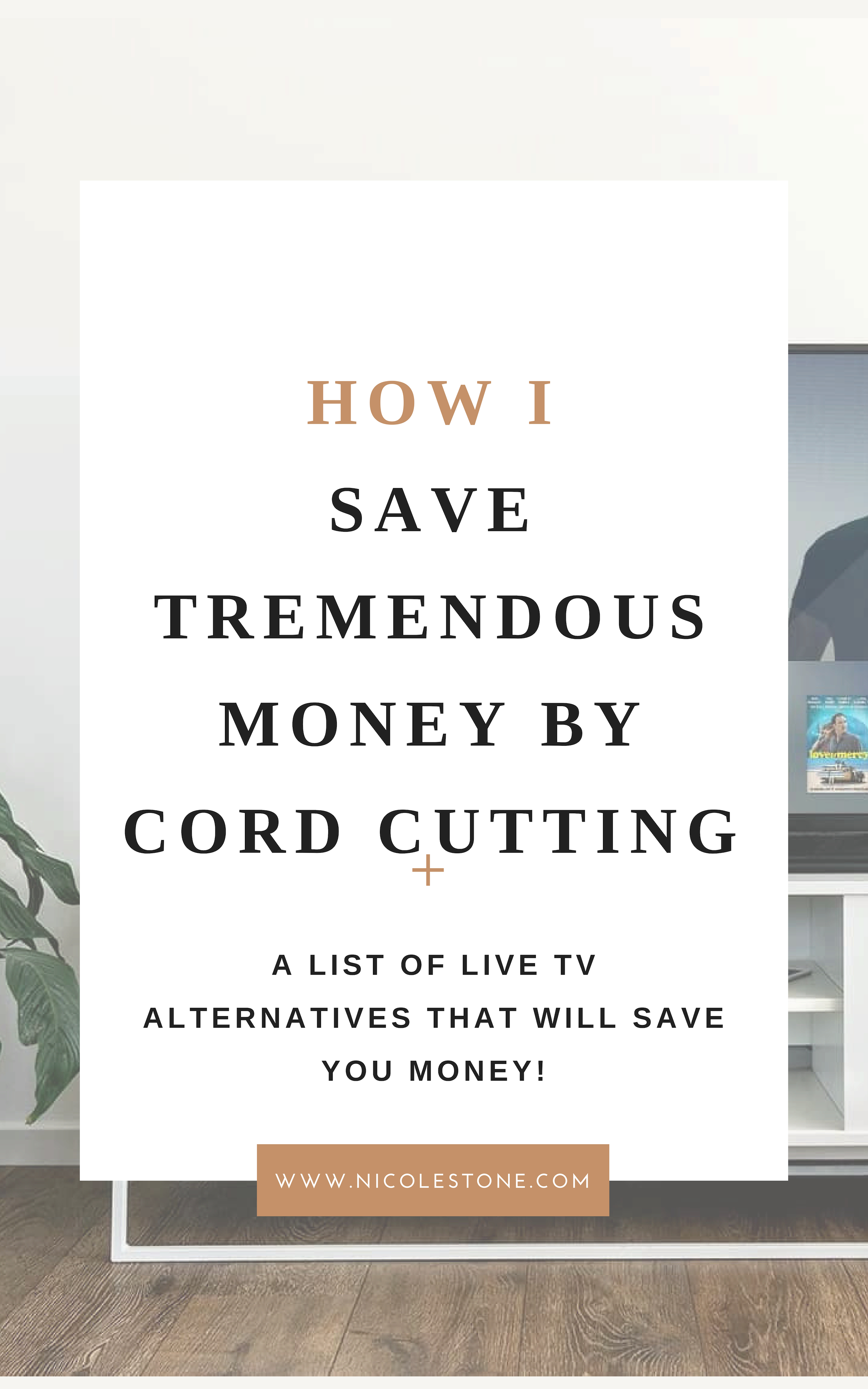 This is how I save tremendous money by cutting the cord! #savemoney #finances #financetips