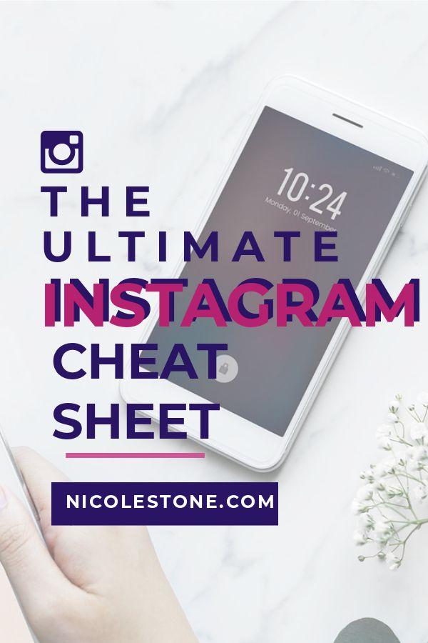 The Ultimate Instagram Cheat Sheet. Explode Your Following! #instagram #socialmedia #marketing