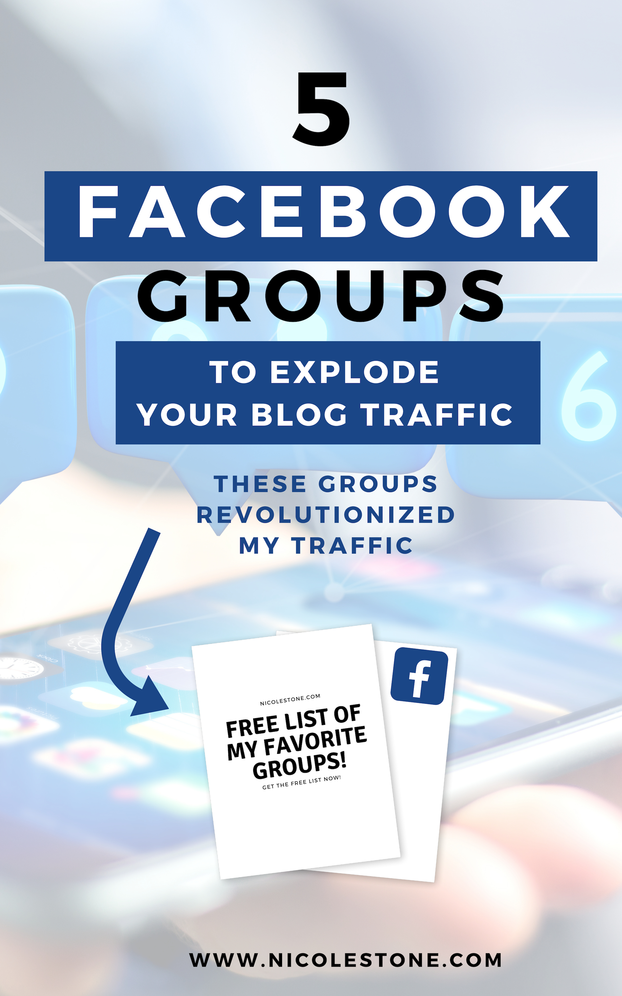 Grab these 5 Facebook groups that will EXPLODE your blog traffic and brand awareness. These have participation threads, connections, and are hosted by some VERY successful entrepreneurs. Get my 5 favorite Facebook groups to multiple your marketing strategy here. #facebook #blogging #blog #marketing #blogtraffic