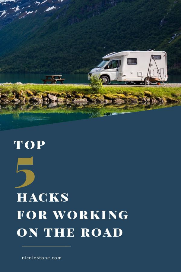 Do you want to work on the road? Make sure to check out these 5 hacks for working on the road as a freelancer, blogger, or entrepreneur! #blogging #marketing #entrepreneur
