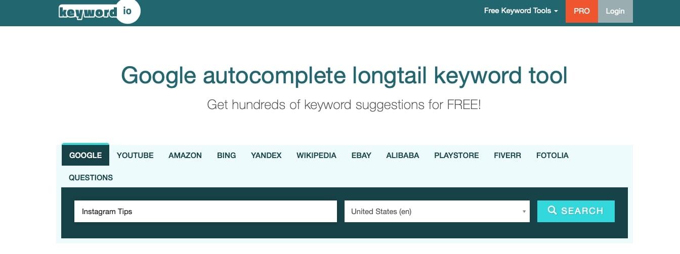 Keyword.IO is a simple SEO tool.