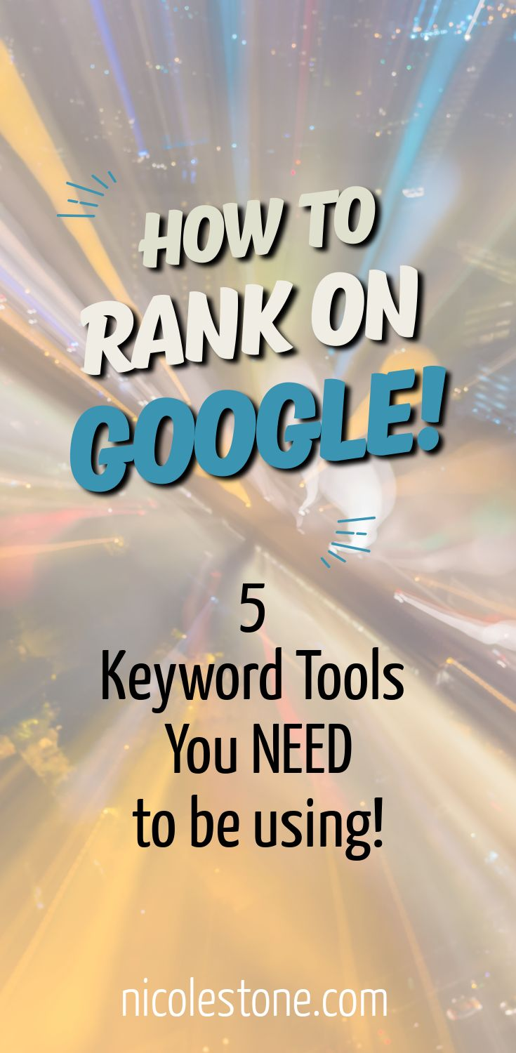 Learn how to rank on Google with these awesome SEO tools. #blog #blogging #marketing #seo
