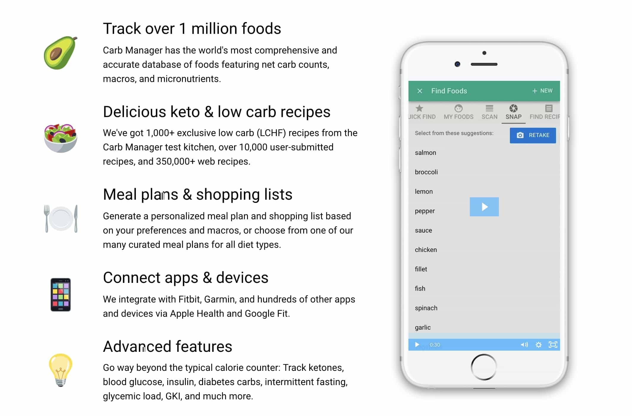 Carb Manager App