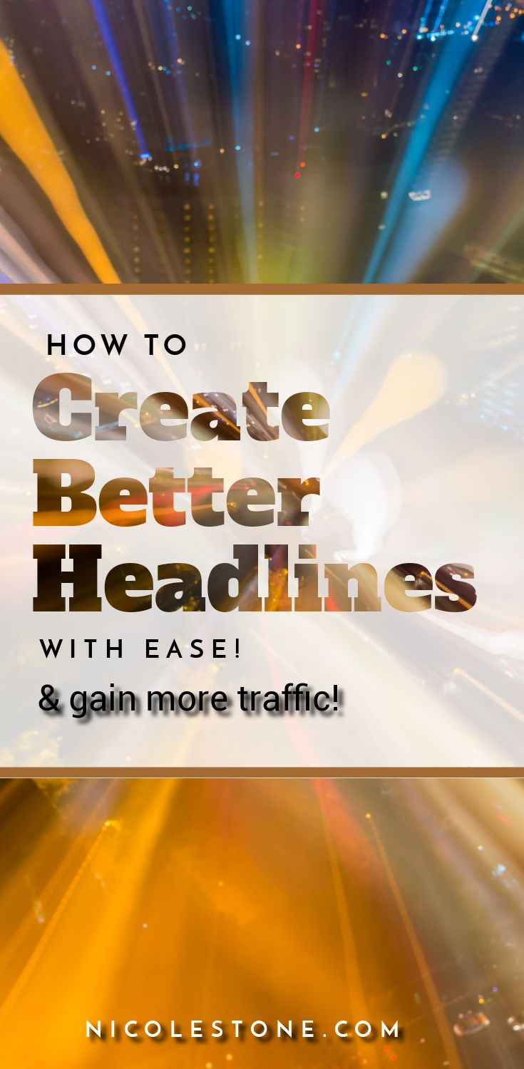 Gain more traffic by utilizing these headlines tools. Did you know that better titles and headlines can give your more blog traffic? Check them out here! #blogging #blog #socialmedia #marketing