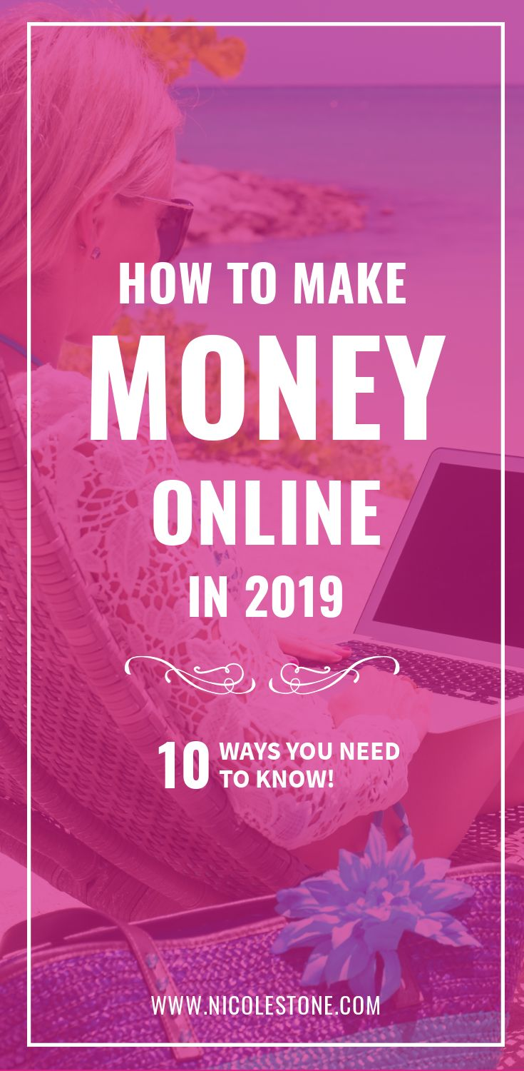 Learn how to make major money online in 2019! 10 AWESOME ways - there is one that is right for you! #finance #workathome #entrepreneur #makemoney #makemoneyonline