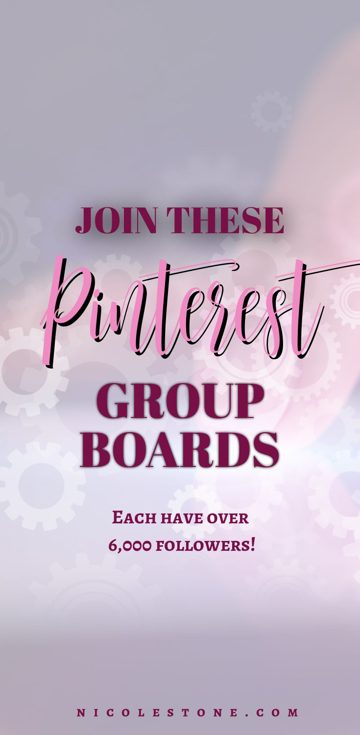 Join these Pinterest group boards - over 6,000 followers each! Also Tailwind Tribes you should join. #socialmedia #pinterest #marketing #marketing