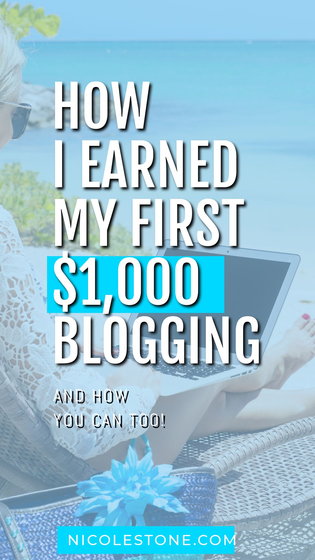 How I made my first $1,000 blogging. I go through my story, and my steps, to building and making my own profitable blog. Real steps you can include too! Spoiler: I now blog full-time #blogging #marketing #soicalmedia