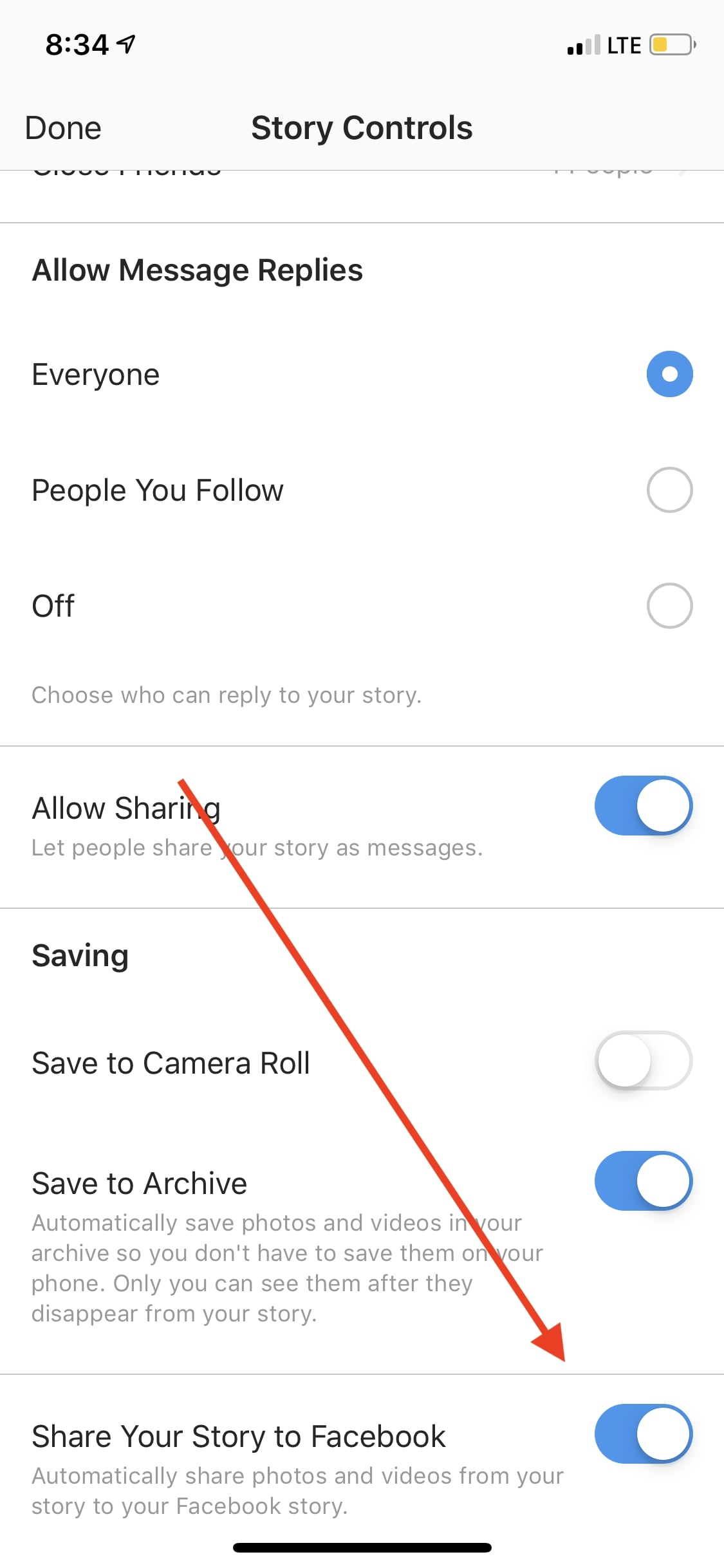 Save time by sharing your Instagram stories on Facebook.