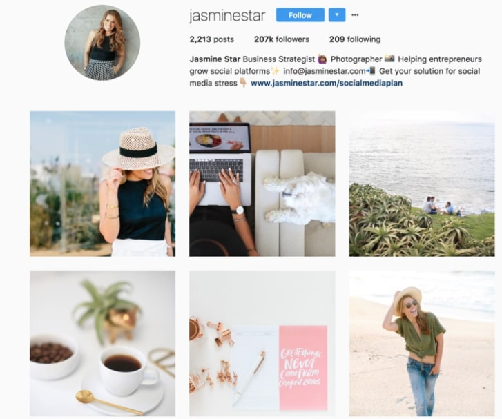 Jasmine Star has an example of a stunning feed.