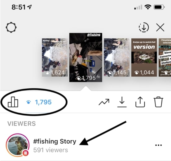 Above I received 1,700 story viewers with help from one simple strategy.